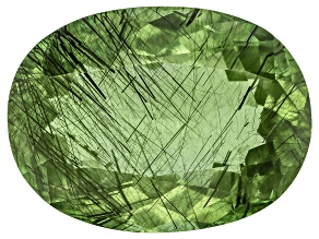 Peridot Ludwigite Included Oval 14.00ct