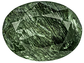 Peridot Ludwigite Included Oval 7.00ct
