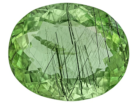 Peridot Ludwigite included Oval 9.00ct