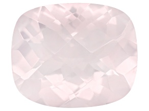 Rose Quartz 12x10mm Rectangular Cushion Checkerboard Cut 4.25ct