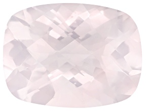 Rose Quartz Rectangular Cushion Checkerboard Cut 16.50ct