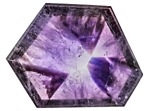 Amethyst Geometric Free Form Slice 7.00ct