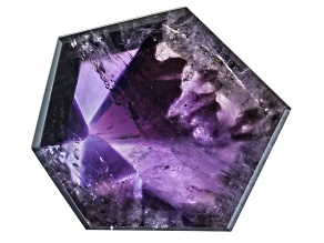 Amethyst Geometric Free Form Slice 9.00ct