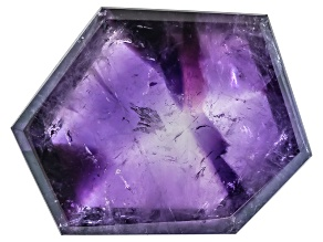 Amethyst Geometric Free Form Slice 13.00ct
