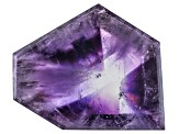 Amethyst Geometric Free Form Slice 17.00ct