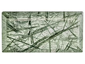 Actinolite in Quartz 16x8mm Rectangle Step Cut 6.00ct