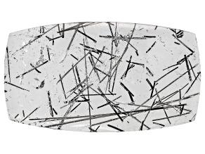 Quartz Tourmalinated 31.5x17.5mm Rectangular Cushion Panoramic Cut 22.49ct