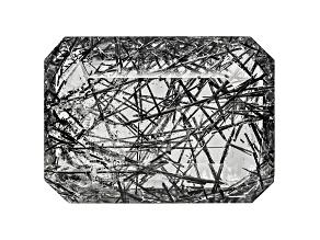 Quartz Tourmalinated 18x13mm Rectangular Octagonal Panoramic Cut 9.00ct