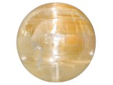 Rutilated Quartz Cats Eye 6.5mm Round Cabochon 1.50ct