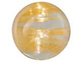 Rutilated Quartz Cats Eye 7mm Round Cabochon 2.00ct