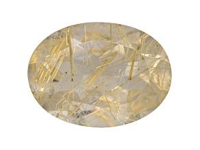 Quartz Rutilated 18x13mm Oval 11.00ct
