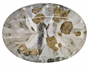 Pyrite in Quartz 18x13mm Oval Buff Top And Quantum Cut 9.25ct