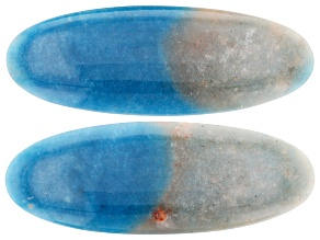107.00ct Quartzite With Lazulite Inclusions 56x24mm Matched Pair Oval