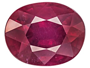 Red Ruby 10x8mm Oval 3.25ct