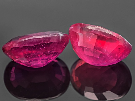 Mahaleo Ruby 7x5mm Oval 1.75ctw Set Of 2