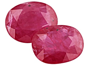 Ruby 3.70ct 9x7mm Oval Matched Pair