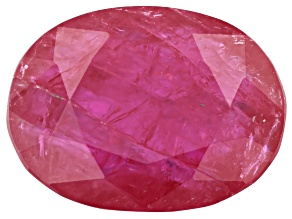 1.25ct min wt. Burmese Ruby 8x6mm Oval