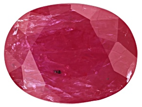 1.30ct min wt. Burma Ruby 8x6mm Oval