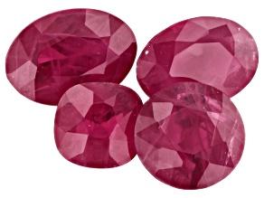 1.87ct Burma Ruby Varies mm Set Of 4 Varies Shape