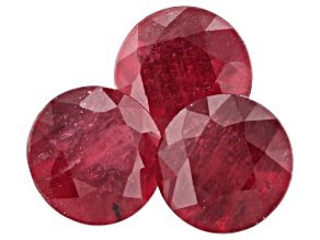 5.20ct Mahaleo Ruby 7mm Round