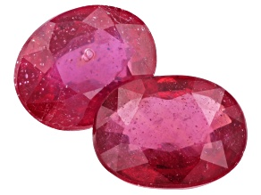 Ruby 9x7mm Oval Matched Pair 4.75ctw