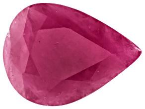 Ruby 8x6mm Pear Shape Mixed Step Cut .75ct