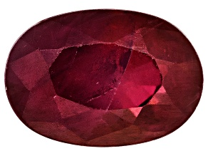 Ruby 6x4mm Oval Mixed Step Cut .50ct