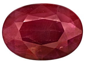 Ruby 7x5mm Oval Mixed Step Cut .75ct