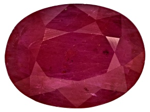 Ruby 8x6mm Oval Mixed Step Cut 1.25ct