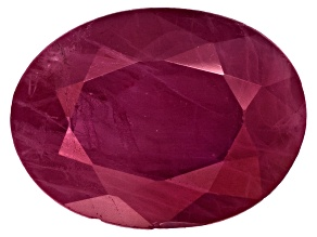 Ruby 8x6mm Oval Mixed Step Cut 1.00ct