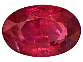 Ruby 6x4mm Oval Mixed Step Cut .40ct