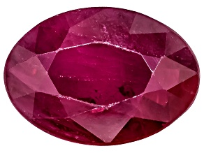 Ruby Oval Mixed Step Cut .75ct
