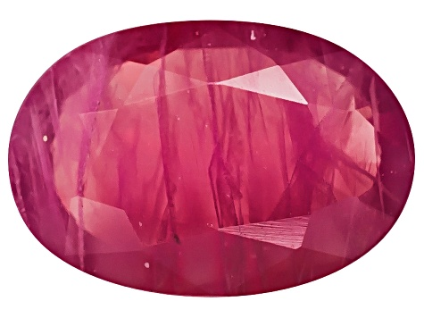 Ruby 7x5mm Oval Mixed Step Cut .50ct