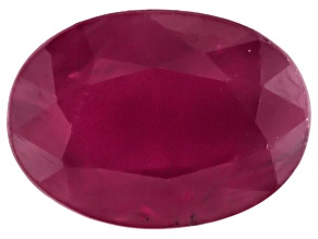 Ruby 7x5mm Oval Mixed Step Cut 1.00ct