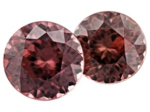 4.52ct Red Zircon Varies mm Set Of 2 Round