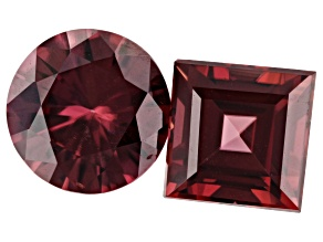 5.11ct Red Zircon Varies mm Set Of 2 Varies Shape