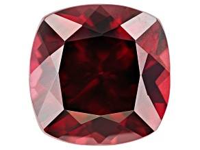 4.18ct Red Zircon 9mm Sq Cush