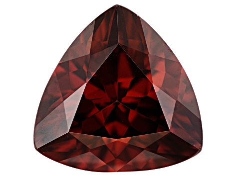 4.00ct min wt. Red Zircon 10mm Triangle
