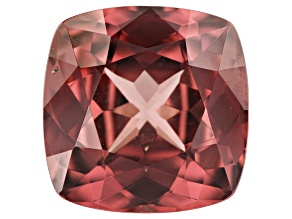 4.23ct Red Zircon 9.3mm Sq Cush