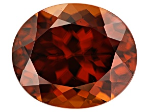 11.40ct Red Zircon 13.5x11.5mm Oval