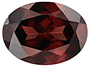 Red Zircon 9x7mm Oval 2.25ct