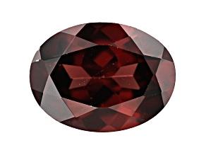 Red Zircon 9x7mm Oval 2.25ct