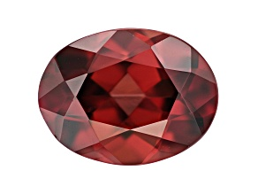 Red Zircon 9.5x7.5mm Oval 2.75ct