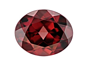 Red Zircon 10x8mm Oval 3.40ct