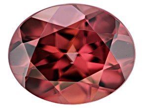 Red Zircon 10x8mm Oval 3.50ct