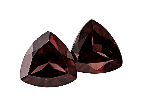 Red Zircon 6mm Trillion Matched Pair 2.25ctw