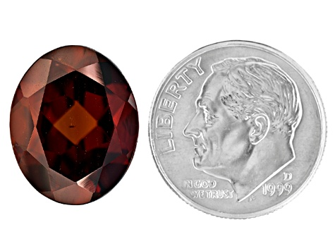 Red Zircon 11x9mm Oval 5.00ct