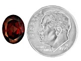 Red Zircon 10x8mm Oval 3.75ct
