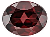 Red Zircon 9x7mm Oval 2.75ct