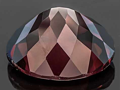 Red Zircon 12x10mm Oval 7.00ct
